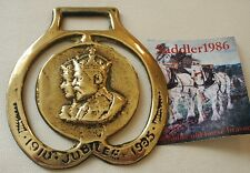 *A KING GEORGE V JUBILEE 1935 HORSE BRASS ~ GEORGE & MARY PROFILE*
