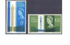 Great Britain 1965 POST OFFICE TOWER(2) SG 679-80 Unhinged Mint