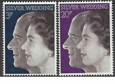 Great Britain 1972 SILVER WEDDING (2) Unhinged Mint SG 916-7