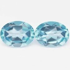 4.30 CTS FANTASTIC LOOKING OVAL SHAPE BLUE TOPAZ CHECKER CUT LOOSE GEMSTONE PAIR