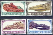 Papua New Guinea 1965 CANOE PROWS (4)  Lightly Hinged Mint SG72-75
