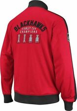 Chicago BLACKHAWKS Officiallly Licensed NHL Stanley Cup Tracker CCM Jacket, 2XL