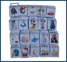 Personalised Single Cupcake Boxes - Great for kids Parties - VARIOUS DESIGNS