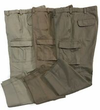Cargo Roundtree & Yorke Pants Cotton Utility Dusty Brown Dark Stone Green Khaki