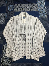 New WHITE Embroidered Robe gown open shirt japan visvim Lhamo Blue ICT shirts