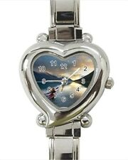 Kayaking Heart Italian Charm Watch (Battery Included)