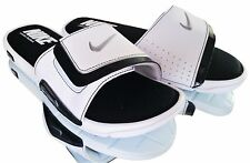 New Nike Comfort Slide 2 Men's Slide Sandals White Black Solid 415205 100