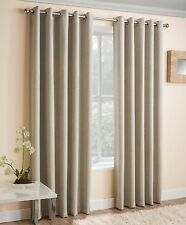 Cream Thermal Blockout Eyelet Ring Top Curtains Ready Made Curtains All Sizes