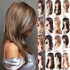 18 Easy Stylish Casual Haircut Women Long Straight Wavy Ombre Full Wig Hair USA