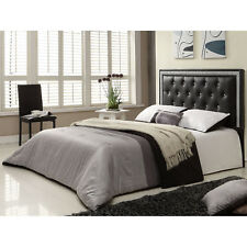 NEW Twin Full Queen Upholstered Headboard Bed Tufted Black Faux Crystal Buttons