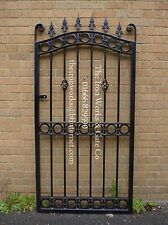 "ROYAL GATE   ANY SIZE HEAVY METAL WROUGHT IRON 40"" OP X 6FT TALL ORNATE LOCK"