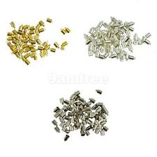 50Pcs 6mm Brass End Cap Leather Kumihimo Rattail Cord DIY Jewelry Craft Findings