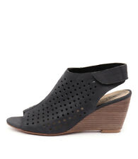 New Walnut Melbourne Geri Wedge Black Women Shoes Casuals Wedges Heels