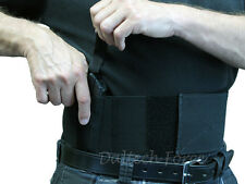 "38 Special  Belly Band Gun Holster 4"" Wide Concealed Carry USA Made - Black"