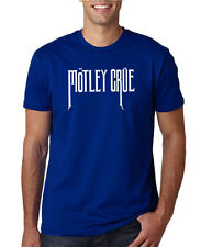 MOTLEY CRUE ROYAL BLUE MENS T SHIRT MUSIC ROCK PUNK RETRO POP 80s GIFT TOUR