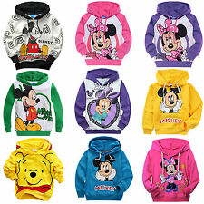 Cartoon Minnie/Mickey Unisex Kids Boys Girls Hoodies Sweatshirts Coat Pullover