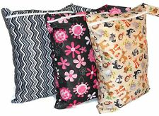 Waterproof Wet Bag/ Reusable Nappy Bag for Cloth diaper & any Wet items.