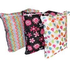 Large Waterproof Wet Bag/ Reusable Nappy Bag for Cloth diaper & any Wet items.