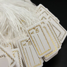 Strung String Tags Swing Price Jewelry Clothing Tie On Paper Labels GTAU