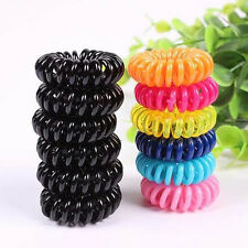 100pcs Girl Elastic Rubber Hair Ties Band Rope Ponytail Holder Telephone Wire