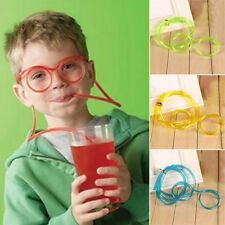 Creative Drink Straws Party Children DIY Crazy Straw Funny Glasses Tube Gag Toys