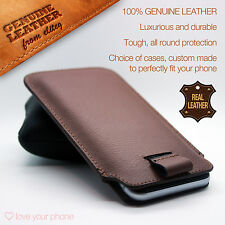 100% Genuine Leather Luxury Mobile Phone Case Cover Sleeve Pouch for Blackberry