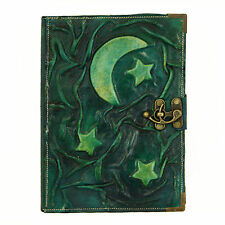 Moon Star Large Handmade Leather Journal Diary Sketchbook Notebook