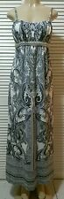 Inc International Concepts Spaghetti Strap Paisley Print Beaded Maxi Dress Large