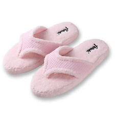 Pink Women Fuzzy Plush Thong Slippers Flip Flops House Bedroom Shoes Size 7 8 9