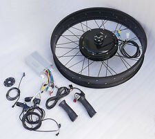 "48V Fat Tire Electric eBike Bike Conversion Kit/Front Motor w/ 26""-4""/20""-4"" Rim"