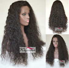 6A Curly Glueless Full Lace Human Hair Wigs Black Women Indian Remy Lace Front