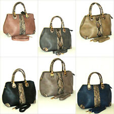 Ladies Handbag Shoulder Bag Shoulder Strap Fashion Leather Snake Pattern New