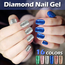 Modelones 10ml New Art Gel Soak Off UV Led Glitter Diamonds Gel Nail Polish