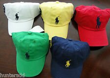 NWT Ralph Lauren Polo Boys Classic Chino Big Pony Hat 8 10 12 14 16 18 20 NEW