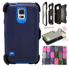 For Samsung Galaxy S5 Case w/Screen Built In [Belt Clip Fits Otterbox Defender]