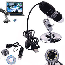 2MP 500X 1000X 8LED USB Digital Microscope Endoscope Zoom Camera Magnifier Stand