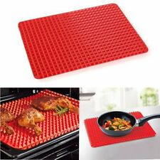 Non Stick Fat Reducing Silicone Cooking Mat Oven Baking Tray Sheets Mat New CC