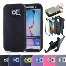 For Samsung Galaxy S6 Case w/Screen Built In [Belt Clip Fits Otterbox Defender]