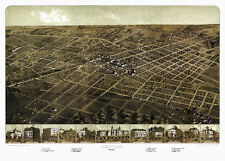 Vintage Map of Adrian Michigan 1866 Lenawee County 18x24 24x36 36x54 Poster NEW