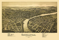 Map Connellsville Pennsylvania 1897 Fayette County 18x24 24x36 36x54 Poster