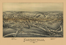 Old Map Factoryville Pennsylvania 1891 Wyoming County 18x24 24x36 36x54 Poster