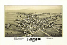 Old Map of Fleetwood Pennsylvania 1893 Berks County 18x24 24x36 36x54 Poster