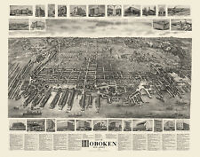 Historic Map of Hoboken New Jersey 1904 Hudson County 18x24 24x36 36x54 Poster