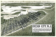 Historic Map Ocean City New Jersey 1903 Cape May County 18x24 24x36 36x54 Poster