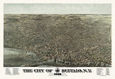 Historic Map Buffalo New York 1880 Erie County 18x24 24x36 36x54 Poster