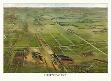 Historic Map of Depew New York 1898 Erie County 18x24 24x36 36x54 Poster