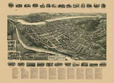 Historic Map of Port Jervis New York 1920 Orange County 18x24 24x36 36x54 Poster