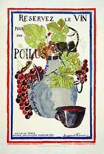 WWI Poster France Save Wine For Our Soldiers. 18x24 24x36 NEW