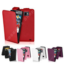 2xNew Stylish Grip Series Leather Flip Case Cover For Samsung Galaxy S2 I9100