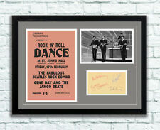 The Beatles Concert Poster and Autographs Memorabilia Poster 1961 John Lennon